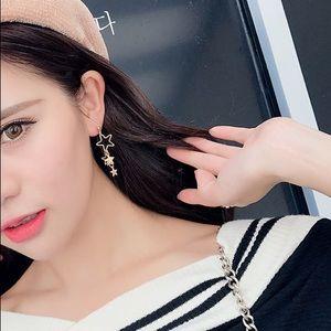 Korean Gold Star Earrings